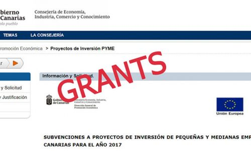 Investments grants for Canarian SME-2017