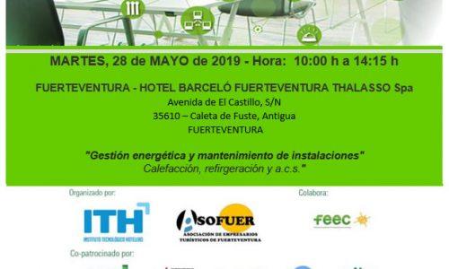 MARTES 28 DE MAYO 2019: JORNADAS ITH HOTEL ENERGY MEETINGS 2019.