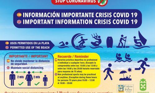 Permitido el uso de playas en Antigua a partir del lunes 25 de mayo.